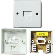 100 PACK - PBX/PABX Telephone Master Socket -IDC-BT Line Adapter Wall Plate 1/2A