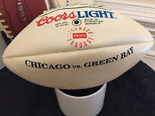 COORS LIGHT 4LBS FOOTBALL PROMO OLDER WITH DISPLAY GREEN BAY VS CHICAGO