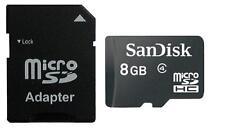8GB tarjeta de memoria MicroSD SANDISK Clase 4 incl. Adaptador SD