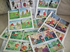 Vintage Rupert Bear Books - picture plates - recycled from 1950's / 60's books