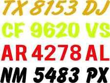 PWC BOAT REGISTRATION NUMBERS ARIAL BOAT LICENSE JET SKI WAVE RUNNER,SEA DOO