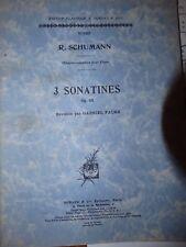 RECUEIL 3 SONATINES SCHUMANN FAURé op118
