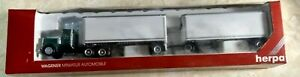 HO Scale Herpa 6046 Merchants double dry trailer  and tractor
