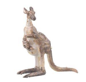 kangaroo trinket box hand made by Keren Kopal & Austrian crystals Faberge