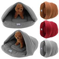 Dog Cat Warm Bed Nest Mat Soft Pet House Puppy Fleece Cave Sleeping Bag Pad S-L