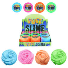 Fluffy Cloud PUFF SLIME Neon Kids Stress Relief ADHD Toy Tub Stocking Filler 8cm