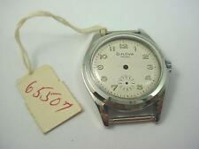 Vintage Bulova Mens Watch Case id 26.5mm Stainless Crystal Case Ring Crown Dial