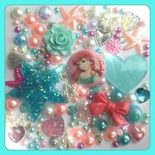 Disney The Little Mermaid Theme CABOCHON Gem & Pearl Flatbacks Decoden Craft #1