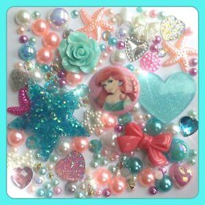Disney The Little Mermaid Theme Cabochon Gem & pearl flatbacks, decoden craft #1