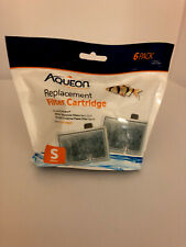 6 Pack Aqueon Filter Cartridge SMALL for Quiet Flow E Size 10 & MiniBow 1,2.5,5