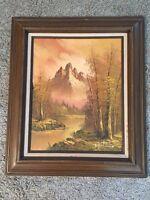 """Original Oil Painting 16""""x20"""" Landscape Framed"""