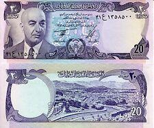 Afghanistan 20 Afghani Banknote World Paper Money Unc Currency Pick p-48c Daud