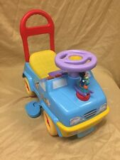 Disney Kiddie land Child Mickey Minnie Mouse Push Car Sounds Noise Buttons