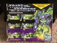 1985 Hasbro G1 Transformers Constructicons box set (Devastator) extra Scrapper