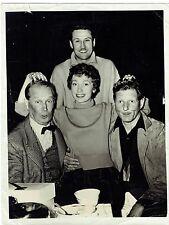 AUTOGRAPHE-PHOTOGRAPHIE ORIGINALE-N&B-MAURICE CHEVALIER-CHANTEUR-LAS VEGAS-1956