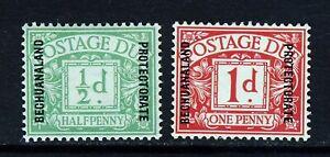 BECHUANALAND PROTECTORATE 1926 Ovptd POSTAGE DUES ½d. & 1d. SG D1 & SG D2 MINT