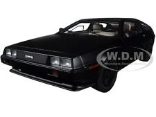 DELOREAN DMC 12 MATT BLACK 1:18 DIECAST MODEL CAR BY AUTOART 79912