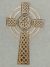 """Celtic 16"""" Wood Custom Engraved Wooden Knot Cross Wall Hanging"""