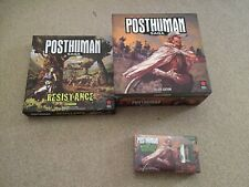 Posthuman Saga board game: Kick Starter Edition With Expansion Unpunched