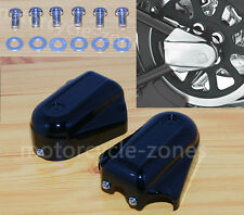 Rear Axle Covers Swingarm Cap Lower Guard Accent For Harley Softail Deluxe 08-16