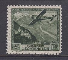Liechtenstein Sc C5 MLH. 1930 45rp Plane Over Rhine Valley, F-VF