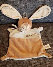 Schmusetuch Hase Nicotoy hellblau beige neu mit Plastikaufhänger
