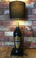 Metaxa Table Lamp Greek Spirit Black Bottle + Shade Bedside Light Handmade Lamps
