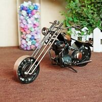 Collectible Chopper Motorbike Iron Art Handmade Nuts Bolts Motorcycle Model Toy