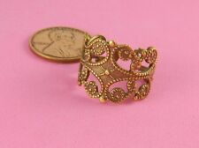 Ring #2 - 1 Pc(s) Vintage Design Ant Brass Beaded