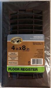 "Hampton Bay ~ 4"" x 8"" Resin Floor Register ~ Mahogany Grain Finish ~ Brand New"