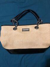 """Calvin Klein Womens Woven Hand Bag Tote  17"""" X 10"""""""