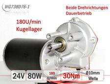 WG73BD76 Getriebemotor 73mm 2-24V 80W 30Nm 180U/min Tor Förderband Klappe Robot