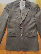 Nautica Boys Blazer Size 12 Blue Sport Uniform Coat Notch Collar 2 Gold Buttons