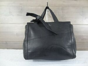 Kate Spade Black Leather Satchel Handbag Tote Purse