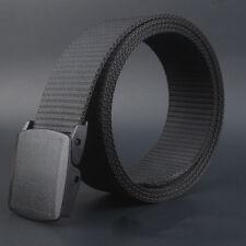 Military Men's Waistband Causal Metal Adjustable Canvas Belts Thin Buckle Belt