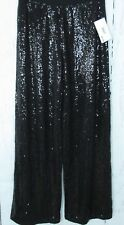 Kensie Pants S Small Black Sequin Pull On Dressy High Rise Wide Leg New $99