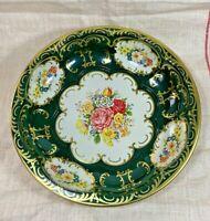 Vintage DAHER DECORATED WARE 11101 - 1971 England Green Floral Tin Serving Bowl