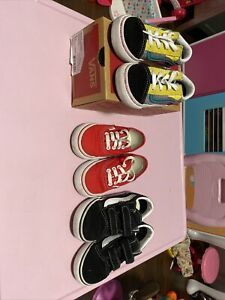 Lot of girls Vans shoes 6c 8c