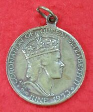 PRE WW2 CORONATION OF QUEEN ELIZABETH II MEDALLION 1953 CITY OF FOOTSCRAY