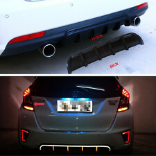 "25""x5"" Black Universal Rear Bumper Lip Shark Fin Trim Curved Addon Diffuser Kit"