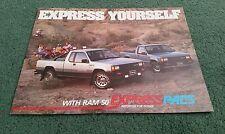 DODGE RAM 50 EXPRESS PACS 1988 USA BROCHURE Mitsubishi L200 Power Ram Sport 4x4
