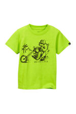 Quiksilver Toddler Boys 4T Short Sleeve Bear Chopper Tee T-Shirt Motorcycle NWT