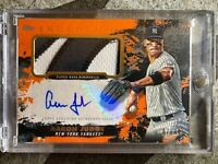 Aaron Judge 2021 Topps Inception Patch Auto Orange 7/10 SP Very Rare - Yankees!