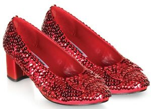 Dorothy Slippers Red Sequin Wizard of Oz Shoes 5 6 8 10
