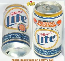 1999 MILLER LITE CLEVELAND BROWNS TEAM SPORTS NFL FOOTBALL TRADITION BEER CAN OH