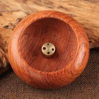 2pcs/Set Bowl Shaped Retro Rosewood Incense Burner Stick Holder Home Decoration