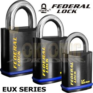 Federal EUX Series Sold Secure CEN Grade Padlocks To Suit Half Euro Cylinders