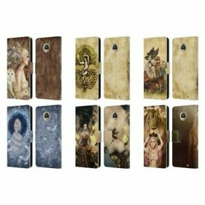 OFFICIAL SELINA FENECH FANTASY LEATHER BOOK CASE FOR MOTOROLA PHONES