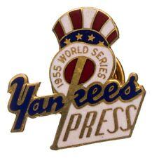 1955 New York Yankees World Series Press Pin (NM-MT) Stengel Berra Ford Mantle