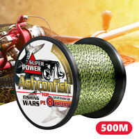 500M Super Strong PE Japan Multifilament 8 Braided Fishing Line 8 Strands Cord